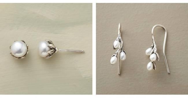 pussy willow pearl earrings