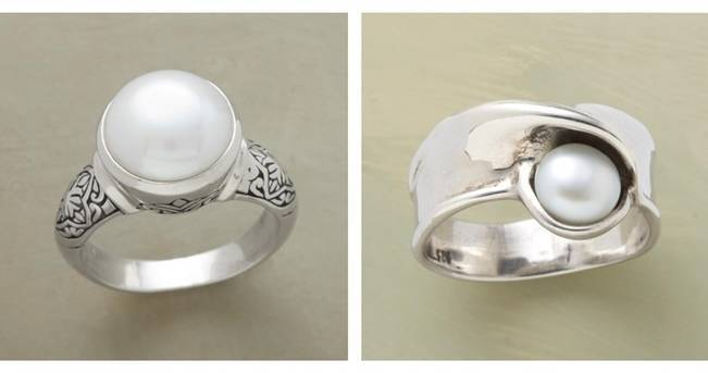 freshwater pearl sterling silver ring sundance