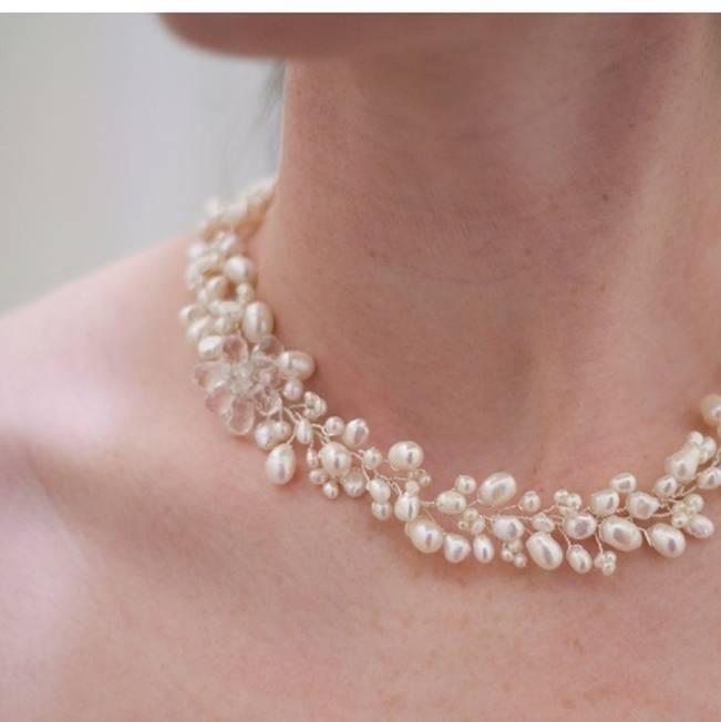 pearl vine necklace bridal virginia geiger jewels