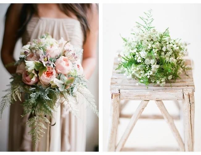 feathery fern bouquet