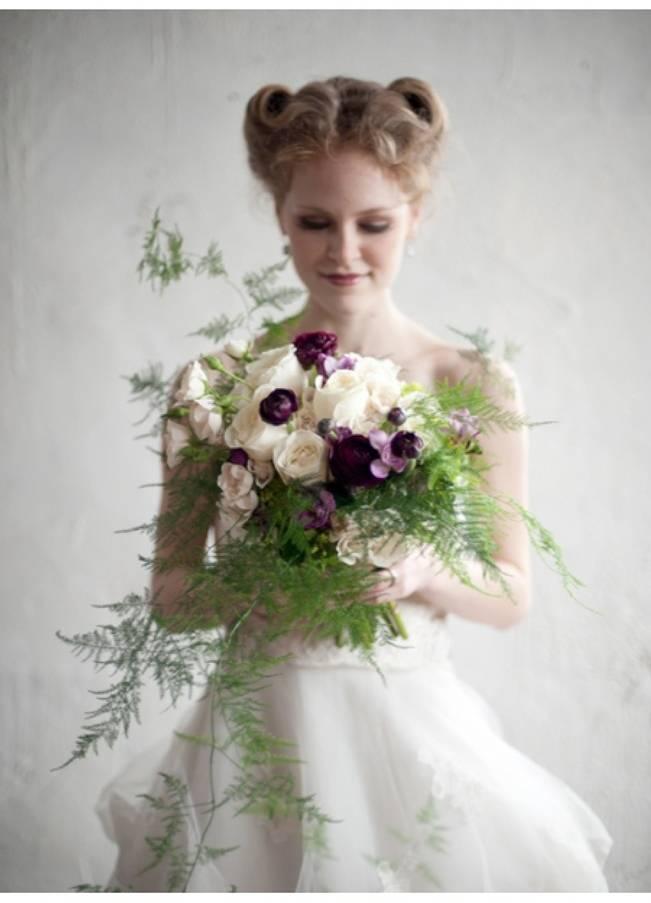 maiden hair fern bouquet