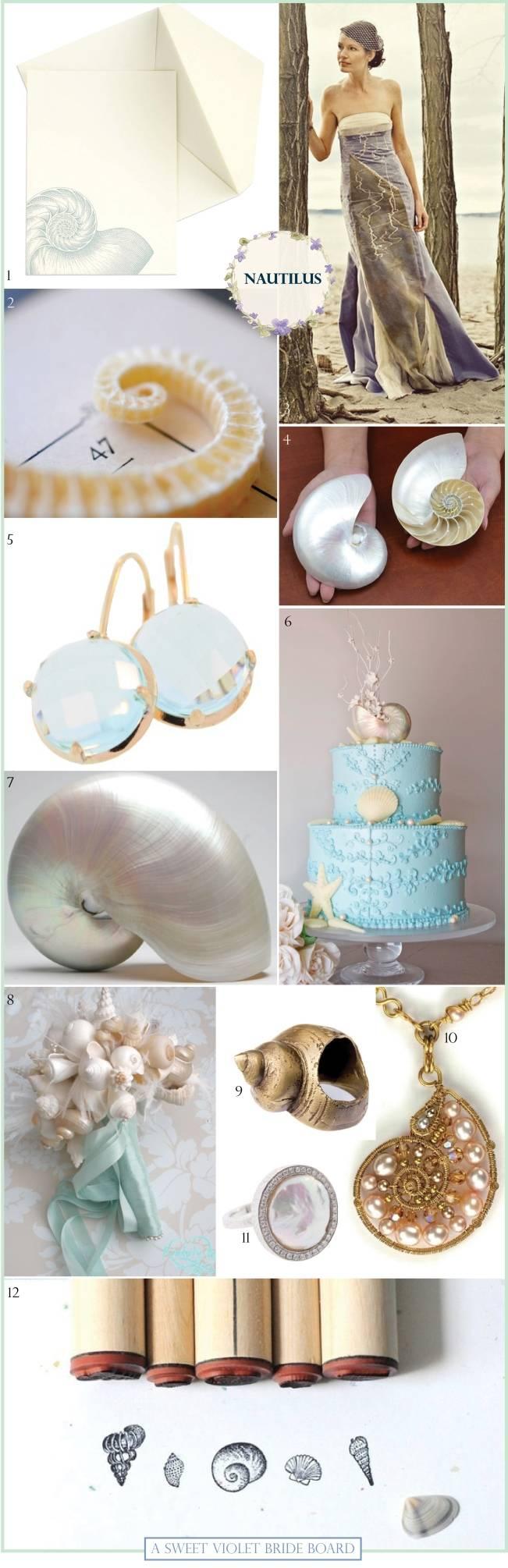 nautical wedding, sea shell wedding theme