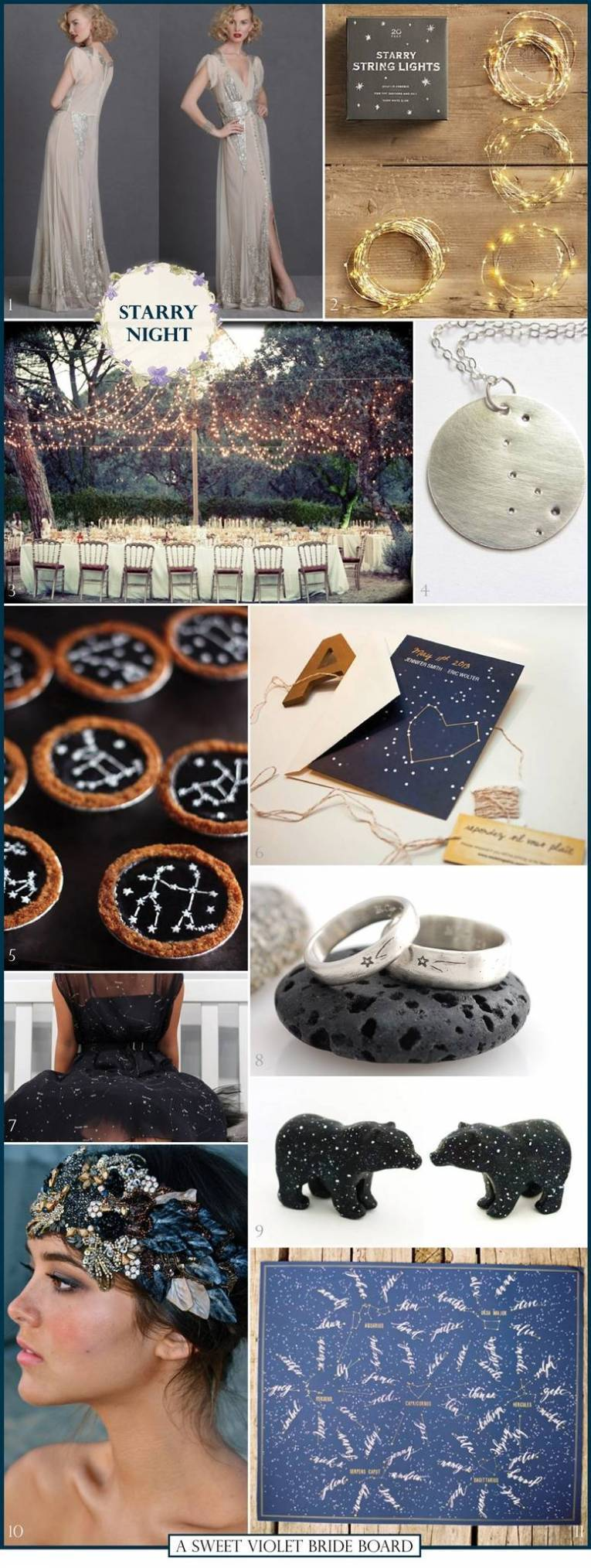 Wedding Inspiration Board #3: Starry Night