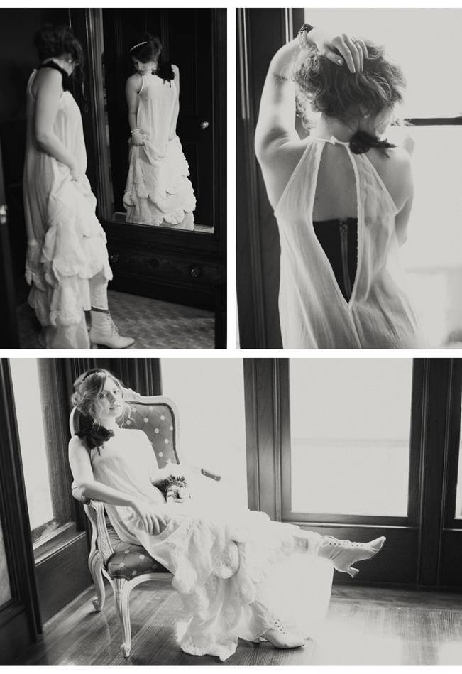 vintage black and white wedding photography