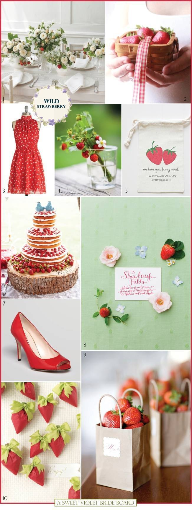 Wedding Inspiration Board #4: Wild Strawberry