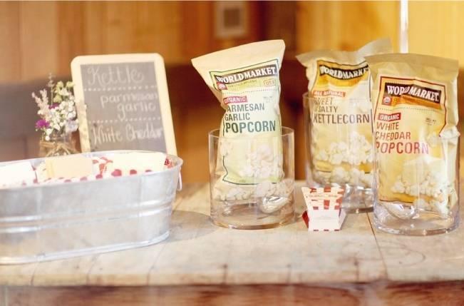 popcorn stand wedding