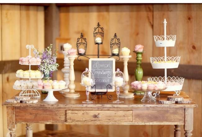 rustic wedding sweets
