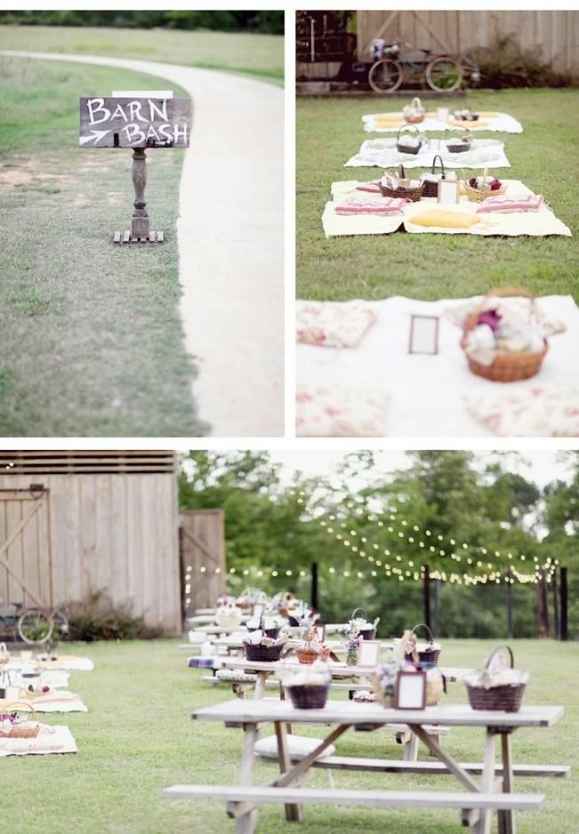 picnic rustic wedding barn bash