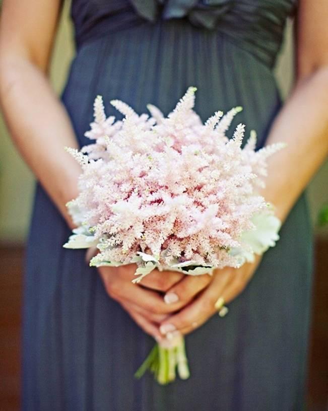 light pink astilbe bouquet