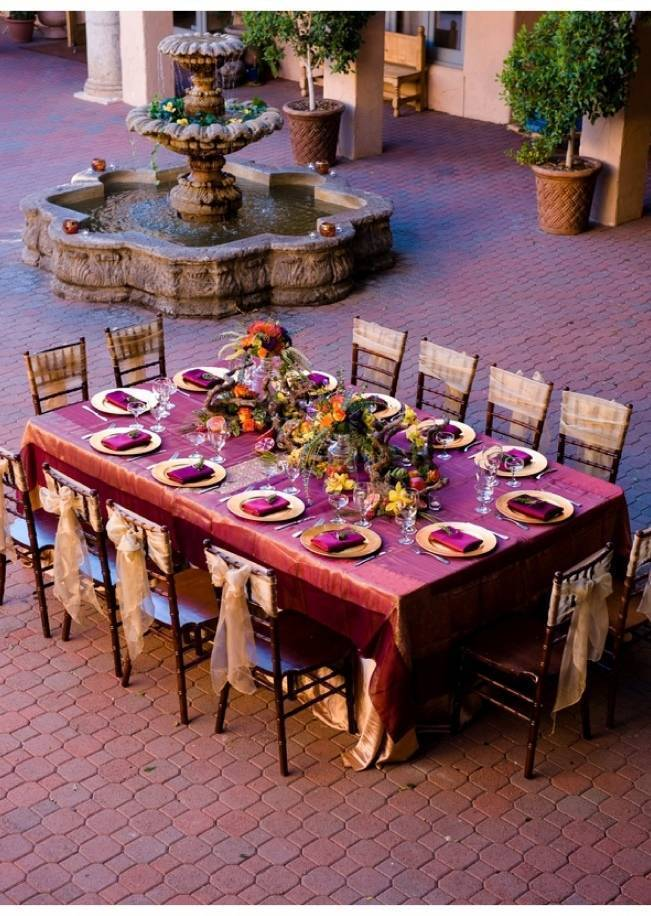 mediterranean wedding table