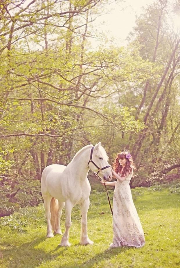 fairytale wedding with horse