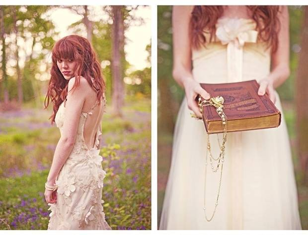 enchanted faerie wedding gown
