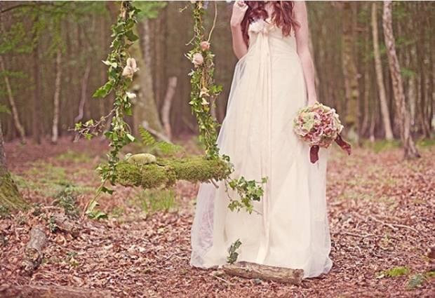 mossy woodland swing