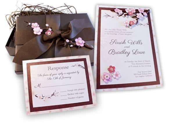 Music Box Invites – Cherry Blossom