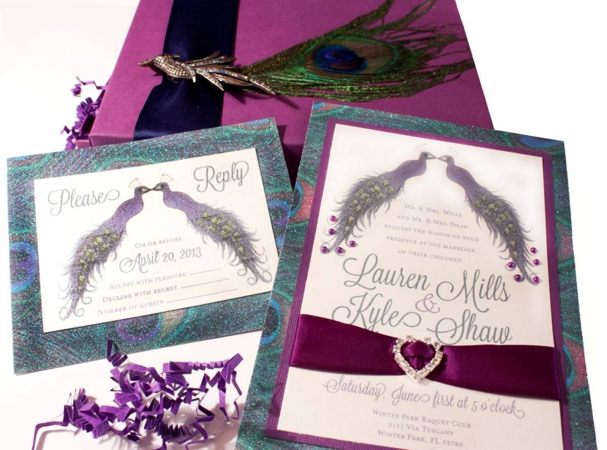 Music Box Invites – Peacock