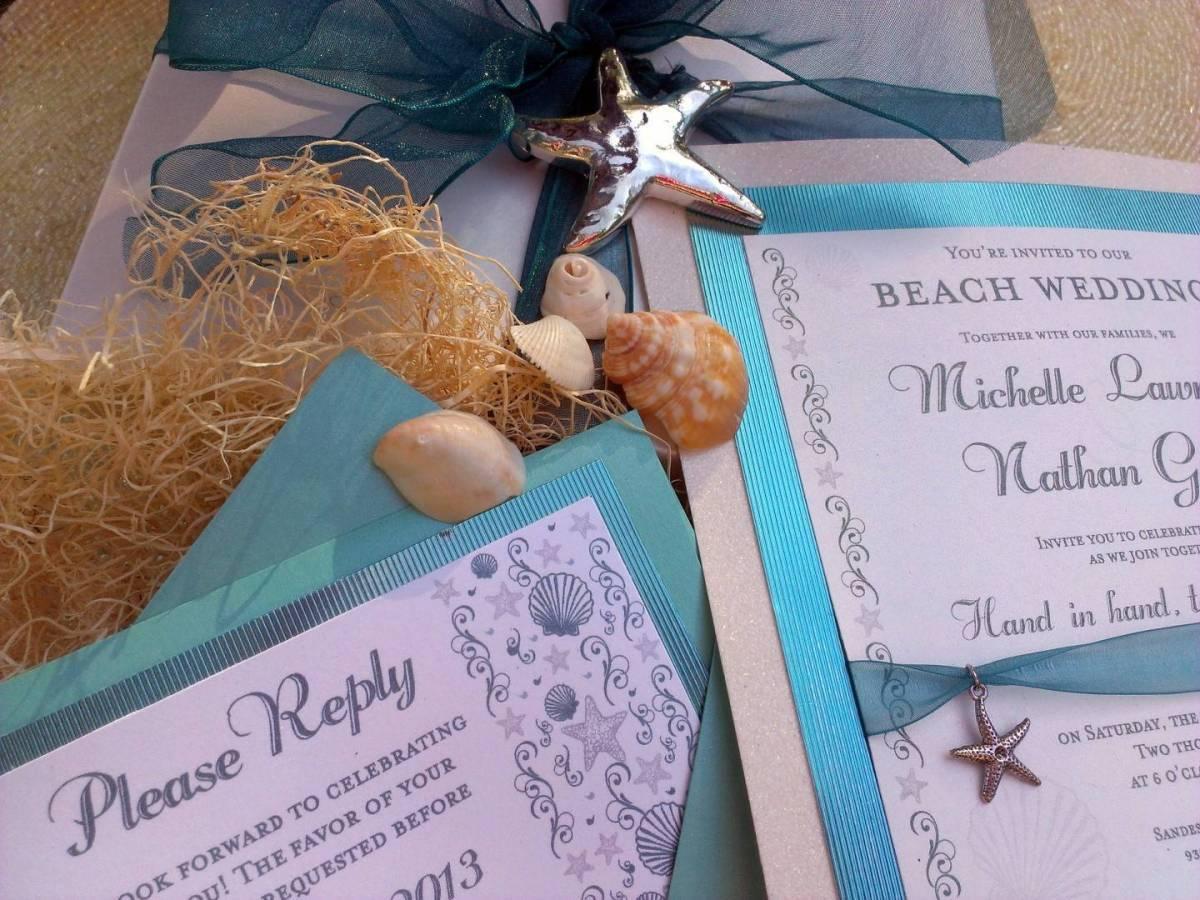 Music Box Invites – Seashells