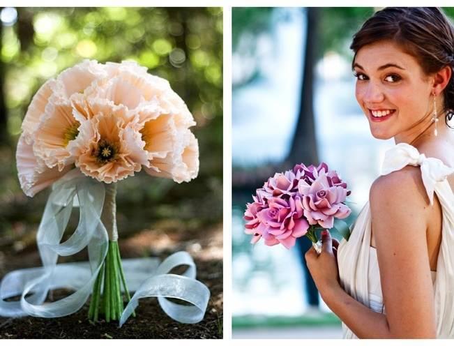 paper anemone rose bouquet