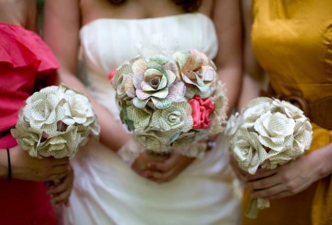 map paper flower bouquet