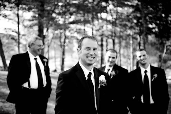 black and white groomsmen photo