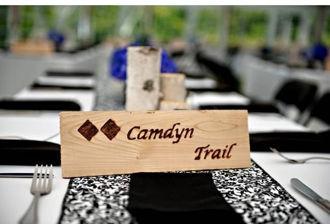 trail signs for wedding table names