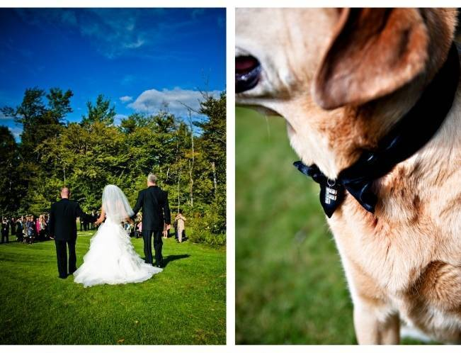 outdoor wedding in maine