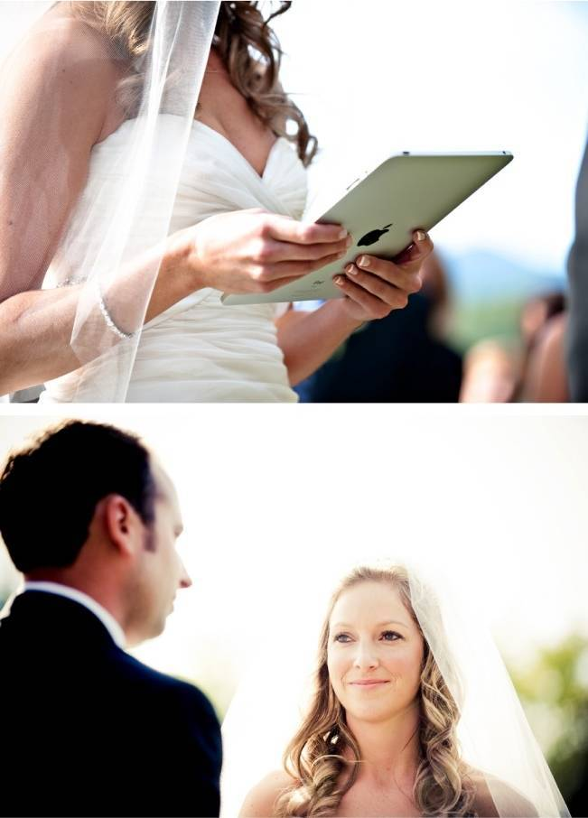 ipad for wedding vows