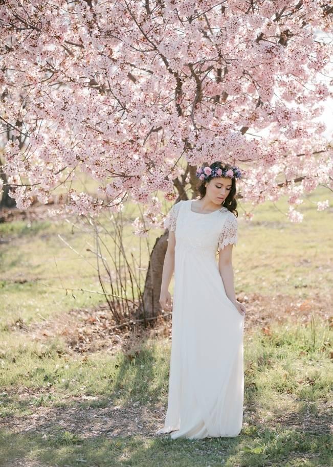 pink cherry blossom bridal