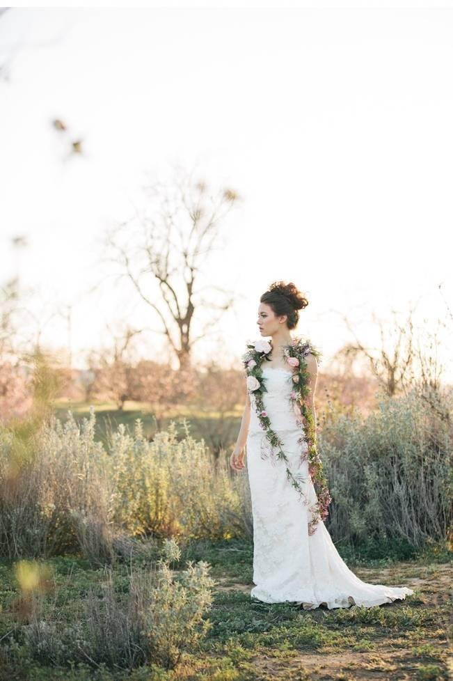 jasmine vine bolero bridal