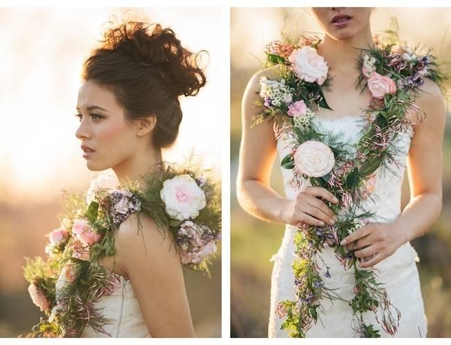 jasmine and rose wedding vine