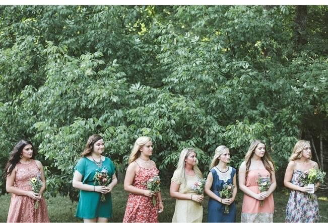 rustic bridesmaids