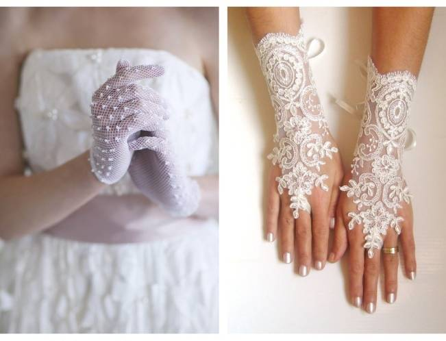 beaded bridal gloves