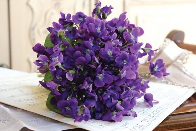 bouquet of sweet violets
