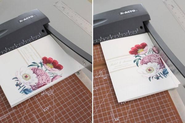 DIY Pretty Blooms Wedding Program Paddle Fan