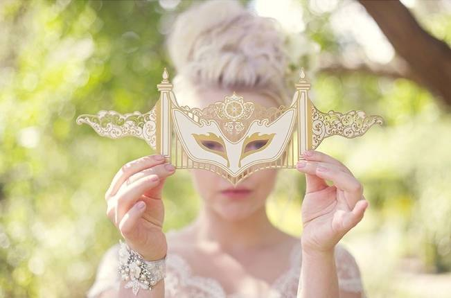 marie antoinette mask wedding