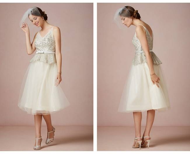 tea length wedding dress from bhldn