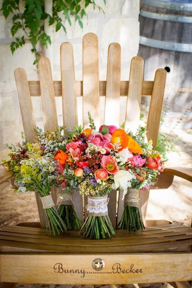 organic wedding bouquets