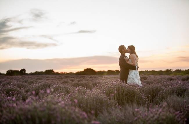 lavender sunset wedding
