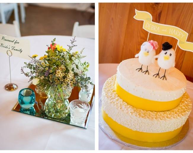 two birds wedding cake