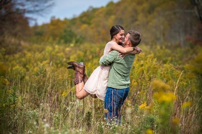 Outdoorsy Blue Ridge Mountains Engagement