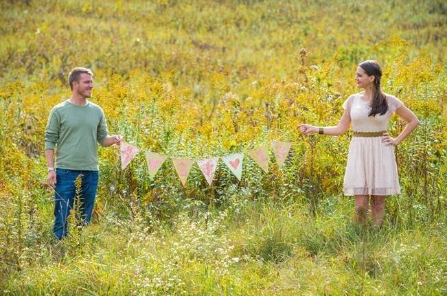 meadow vintage engagement