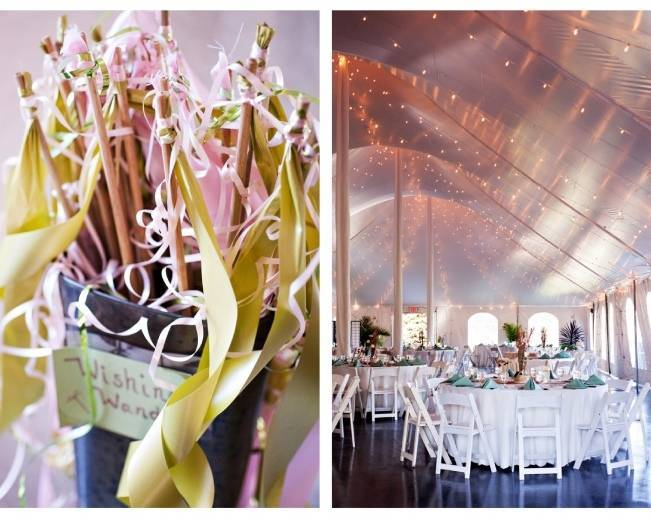 fairytale lights for wedding tent