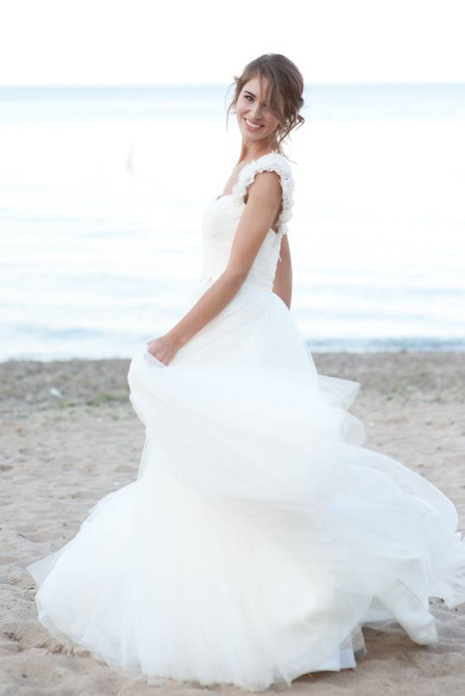 flowy beach wedding dress