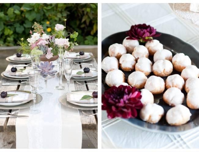 rustic garden wedding table setting
