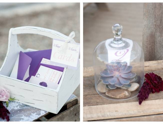 purple beach wedding ideas