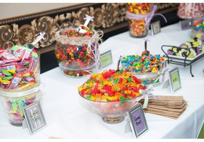 candy wedding table
