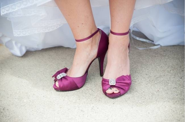 dark lilac purple wedding shoes