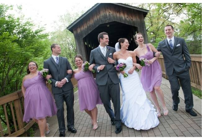 lilac purple bridesmaids