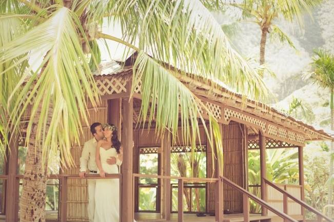 tropical maui wedding