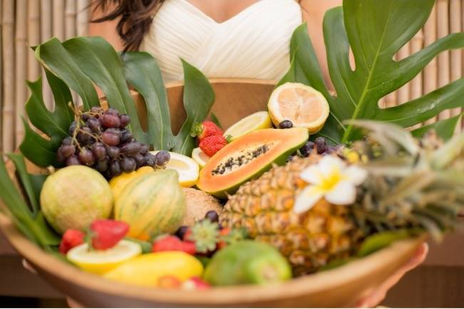 tropical fruit wedding