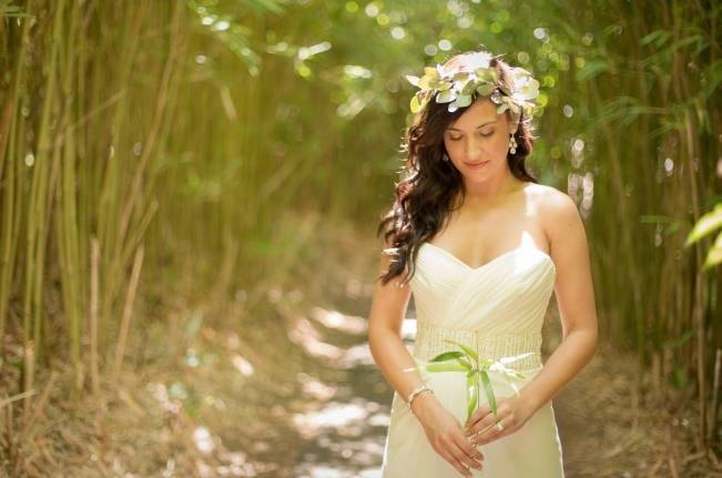 hawaii bride hair crown